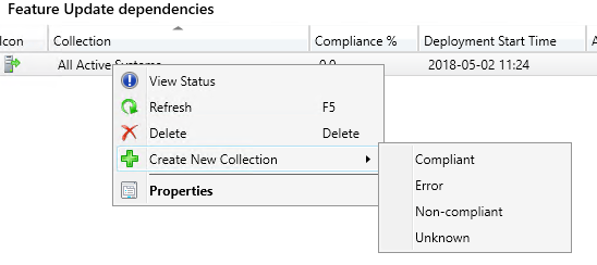 How to create SCCM collections based on Configuration Baseline compliance