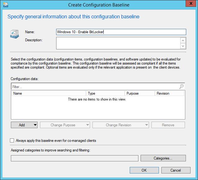 Create a Configuration Baseline