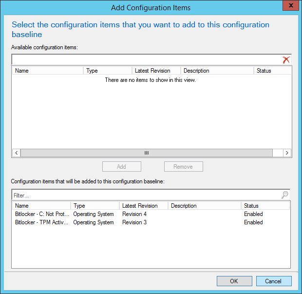 Add Configuration Items to the Baseline