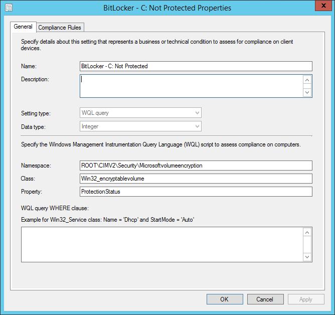 BitLocker protection status