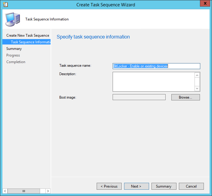 Create a Task Sequence