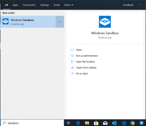 How to Enable Windows Sandbox Using Powershell